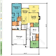floor plan of a one story house. New One Story Floor Plans Plan Of A House 2