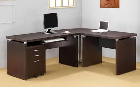 image of l shaped executive office desks