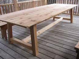 large outdoor dining table cedar