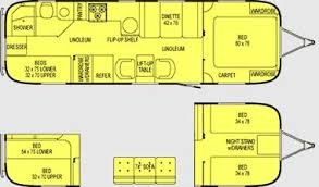 airstream floor plans. Beautiful Floor Plan For The Version Of Safari Bunk From Airstream Plans