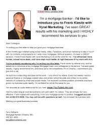 Real Estate Introduction Letter Sample Vmore Info About Video