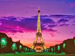 Sunset Eiffel Tower At Night ...