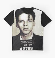 mugshot collection  frank sinatra graphic tshirts by ximoc