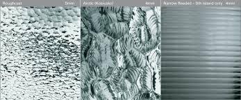 roughcast 5mm arctic kosiusko 4mm narrow reeded sth island