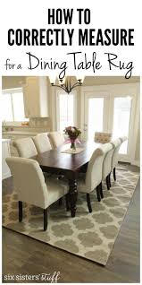 How To Correctly Measure for a Dining Room Table Rug | Rugs ...