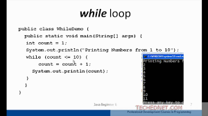 java beginner loops for while do while