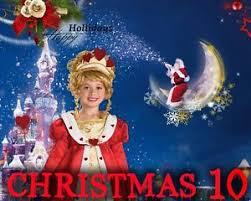 Ch10 Christmas Digital Backgrounds Holiday Senior Kids Greeting