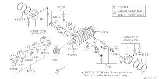 12200aa430 genuine subaru crankshaft complete 2009 subaru forester piston crankshaft diagram 010 01