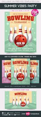 Bowling Event Flyer Free Bowling Tournament Flyer Free Psd Templates