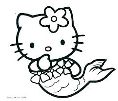 Kitty Cat Coloring Pages Free Hello