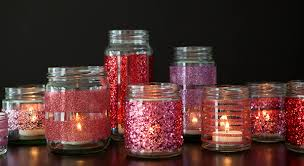 Decorate Glass Jar How to make DIY glittered glass jars perfect candle holders 84
