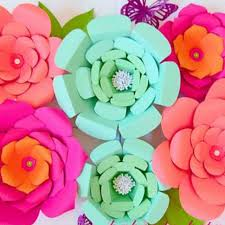 Paper Flower Kit Set Of 3 Flower Templates Sarah Everly Priscilla Style Templates
