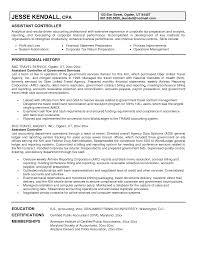 Sample Resume Financial Controller Position Gallery Creawizard Com