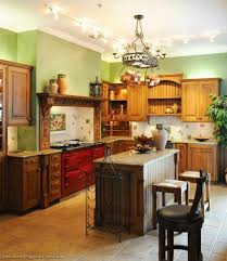 Rustic Italian Kitchens Wooden Kitchen Cabinets With Green Walls For Natural Designwooden
