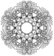 Mandala A Colorier Gratuit Amour Saint Valentin Mandalas