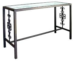 glasetal console table metal console tables glass top inspiration idea metal console table with