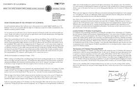 welcome back letter from uc president mark g yudof uc movement full