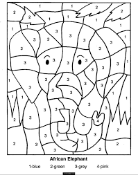 Childrens Color By Number Pages L L L