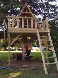 Dazzling Design Tree Houses For Kids with Natural Brown Wooden Tree