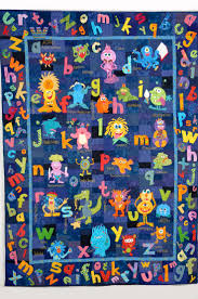 182 best ABC LETTER QUILTS images on Pinterest | Letters, A letter ... & There's Monsters in my Alphabet!! Pattern available. Contact me via  Scarecrows gone Quilting Adamdwight.com