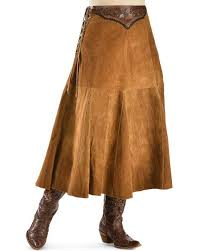 kobler chactow leather skirt brown las western skirts and dresses spur western wear