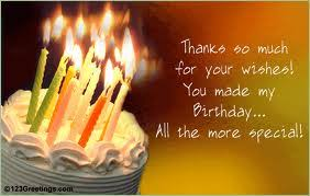 Image result for thank you for birthday wishes