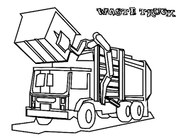 Small Picture Garbage Waste Truck Coloring Pages Download Print Online