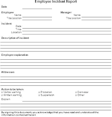 Work Incident Report Template Lovely Free Workplace Awesome
