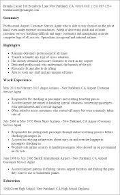 Resume Templates: Airport Customer Service Agent