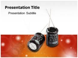 Powerpoint Circuit Theme Running Capacitor Powerpoint Templates Running Capacitor