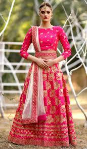 Bridal Lehenga Choli Designs With Price Hot Pink Art Silk Wedding Wear Latest Lehenga Choli Designs With Price