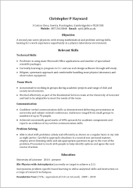 Academic Resume Template For Word Resume Resume Examples