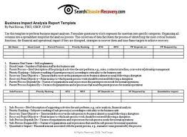 Annual Report Analysis Sample Magnificent Business Impact Analysis Example Metalrus