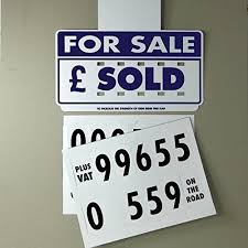 Car Vehicle For Sale Sold Visor Signs Set Of 4 Very High