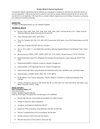 Sample Resume Format For Experienced Network Engineer Fresh