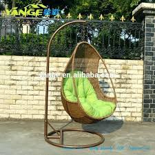 wicker egg chair all weather hanging with cushion and pillow rattan outdoor furniture