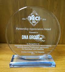 Deci Presents Partnership Appreciation Award To Dna Group Dna Group