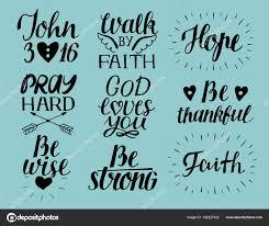 Set Of 9 Hand Lettering Christian Quotes God Loves You John3 16