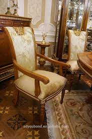 italian wood furniture. 0062 Italian Classic Dining Room Sets, Luxury Golden Wood Table And Chair Furniture D