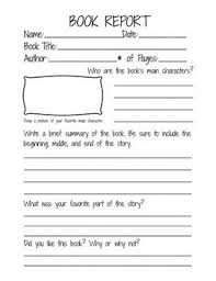 second grade book report template book report form for 2nd 3rd and 4th grade students stuff