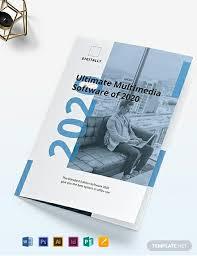 Software Company Marketing Bi Fold Brochure Template Word