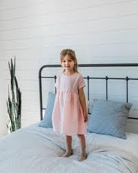 Light Pink Linen Dress Clover Linen Dress In Blush Frozenlane Blush Pink Dress