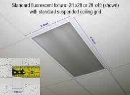suspended ceiling grid and typical lay in type fluorescent fixtures