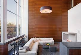 View in gallery Sapele wood panels in a modern living area