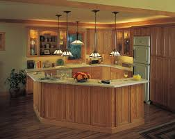Charming Kitchen Island Lighting Fixtures And Brown Wooden
