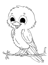 Cute Baby Animal Coloring Pages For Kids With Baby Animals Drawing