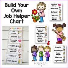 Class Jobs Chart Editable And Customizable Preschool