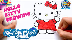 Small Picture LITTLE TOYS PLANET Hello Kitty Cartoon Drawing DRAWING FOR