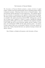the economics of financial markets r e bailey copy