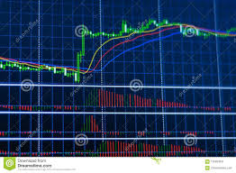 Candle Chart For Stock Graph Of Candle Chart Of Stock Market Stock Image Image Of